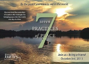 """Seven Practices of Peace"" Postercard Design Digital Download"