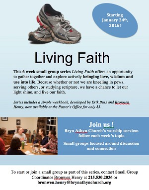 """Living Faith"" Promotional Poster"